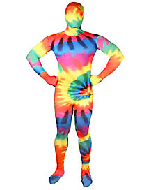 Super Skins® Tye Dye Skin Suit Adult Costume