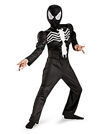 Kids Muscle Ultimate Black Spiderman Costume - Spiderman