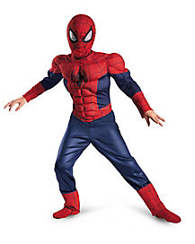 Kids Muscle Ultimate Spiderman Costume - Spiderman