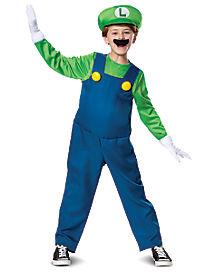 Mario Bros. Luigi Deluxe Boys Costume