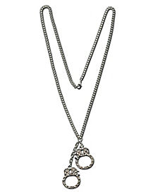 Handcuff Rhinestone Necklace