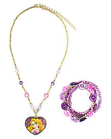 Disney Princess Rapunzel Necklace Set