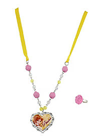 Disney Princess Belle Necklace Set