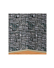 4 ft Stone Wall Back Drop - Decorations