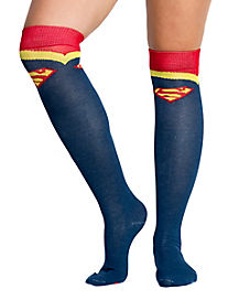 Superman Over The Knee Socks