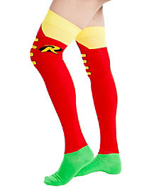 Batman Robin Over The Knee Sock