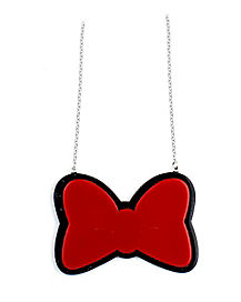 Red Bow Minnie Mouse Necklace - Disney