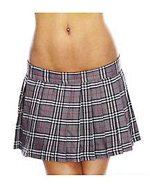 School Girl Skirt Grey
