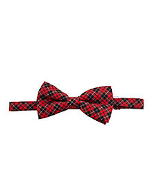 Red and Black Plaid Bow Tie