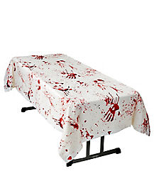 Bloody Hand Prints Table Cover