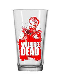 Red Zombie Pint Glass - The Walking Dead