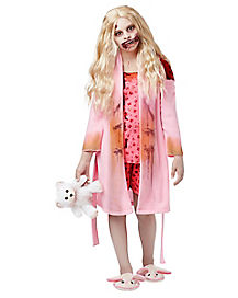 Kids Bunny Slipper Girl Costume - The Walking Dead