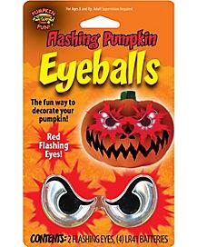 Flashing Creepy Pumpkin Eyeballs