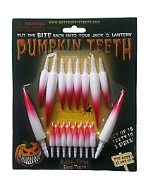 Blood Tipped Pumpkin Fang Teeth