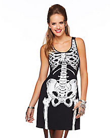 Skeleton Dress Adult Womens Costume