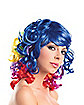 Short Rainbow Curly Wig