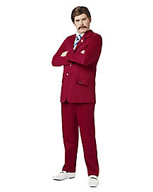 Adult Ron Burgundy Costume - Anchorman