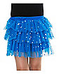 Blue Ruffle Sequin Skirt