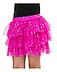 Pink Sequin Ruffle Skirt