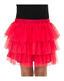 Ruffle Skirt - Red
