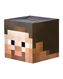 Cardboard Steve Head Mask - Minecraft