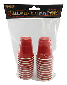 Red Mini Shot Cups Pack 1.75 oz