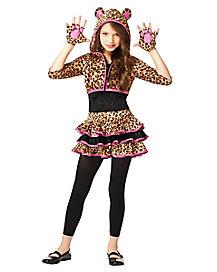 Kids Leopard Hoodie Costume