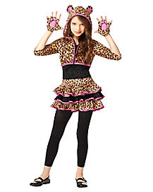 Leopard Hoodie Girls Costume