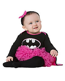 Caped Pink and Black Batgirl Baby Costume