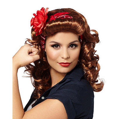 Vintage Inspired Halloween Costumes Rockabilly Wig $24.99 AT vintagedancer.com