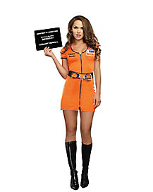 Locked Up Prisoner Adult Womens Costume