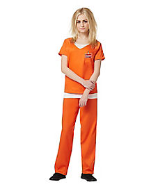 First Time Offender Orange Adult Womens Costume