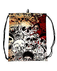 Zombie Skull Cinch Bag