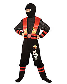 Kids Fire Dragon Ninja Costume
