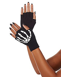 Skeleton Fingerless Glove