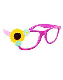 Pink Festival Flower Glasses