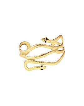 Gold Snake Cuff Bracelet