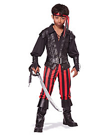 Kids Briny Buccaneer Pirate Costume