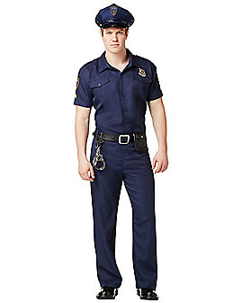 Adult Police Office Costume - Deluxe