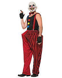 Twisted Clown Adult Mens Costume