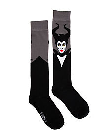 Maleficent Black Knee High Socks