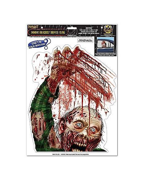 Spirit Halloween Wall Decor : Bloody zombie window cling spirithalloween