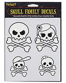Skull Head Family Decals