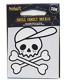 Skull Head Son Decal