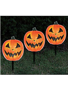 3 Pack Pumpkin Pathway Markers