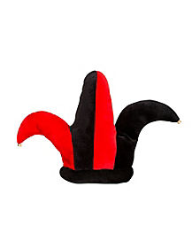 Red and Black Jester Hat