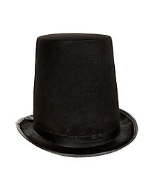 Tall Black Stovepipe Top Hat