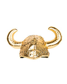 Gold Medieval Hat With Horns