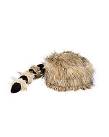 Faux Raccoon Tail Hat