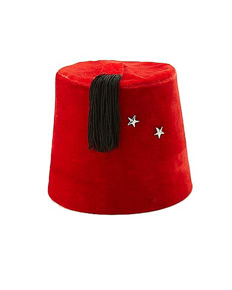 652a751033490 Red Fez Felt Hat Shriner Dr. Who Theme Turkish Deluxe · Red Fezzes:  Spirithalloween.com